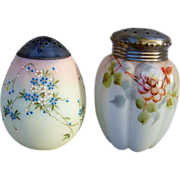 "Gorgeous Mt. Washington Smith Bros. Hand Painted 1880's Egg Shape Enameled Flowers 4-1/2"" Sugar Shaker Muffineer"