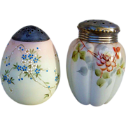 """Attractive Mt. Washington Hand Painted 1880's Melon Shaped Floral Designed Satin Glass 4-1/2"""" Sugar Shaker Muffineer"""