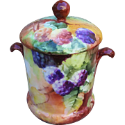 """Fabulous T & V Limoges France 1900's Hand Painted """"Blackberry"""" Fruit Decor Milk Condenser"""