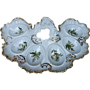 "Scarce RS Prussia [ES] 1900's Six Well Fancy Scallop 9"" Egg Holder"