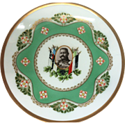 """Scarce RS Germany 1934 Commemorative 8-5/8"""" Plate Honoring the German Military Officer & Statesmen, Paul Von Hidenberg"""