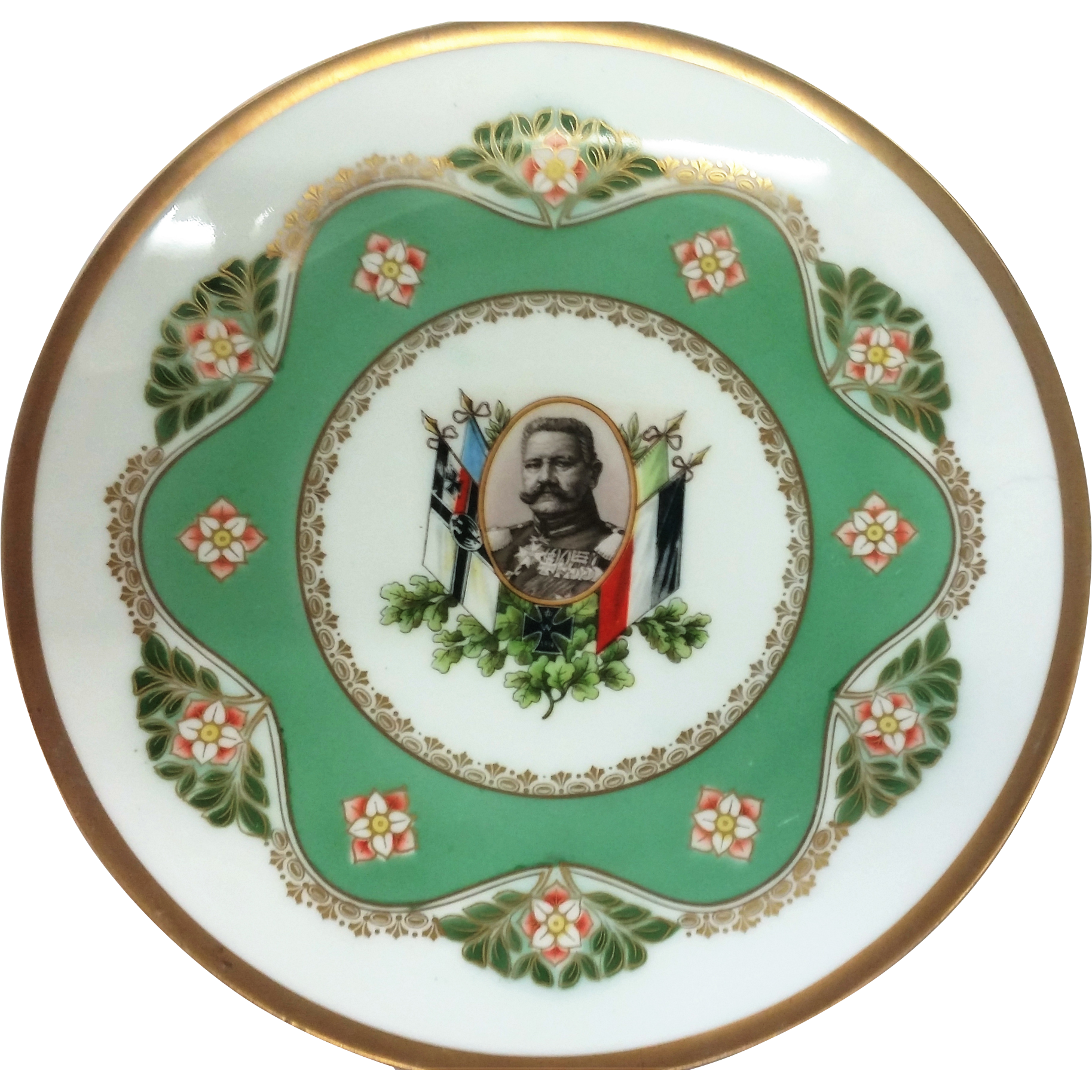 "Scarce RS Germany 1934 Commemorative 8-5/8"" Plate Honoring the German Military Officer & Statesmen, Paul Von Hidenberg"