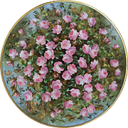"Beautifully Decorated Hand Painted ""Petite Pink Roses"" 9-1/8"""" Floral Plate"