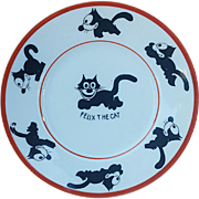 "Scarce Royal Rudolstadt Germany 1925 ""Felix the Cat"" 7"" Child's Plate"