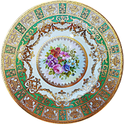 "Gorgeous Minton 1900's Hand Painted ""Wild Flowers"" Floral Plate by the Artist, ""J. Colohough"""