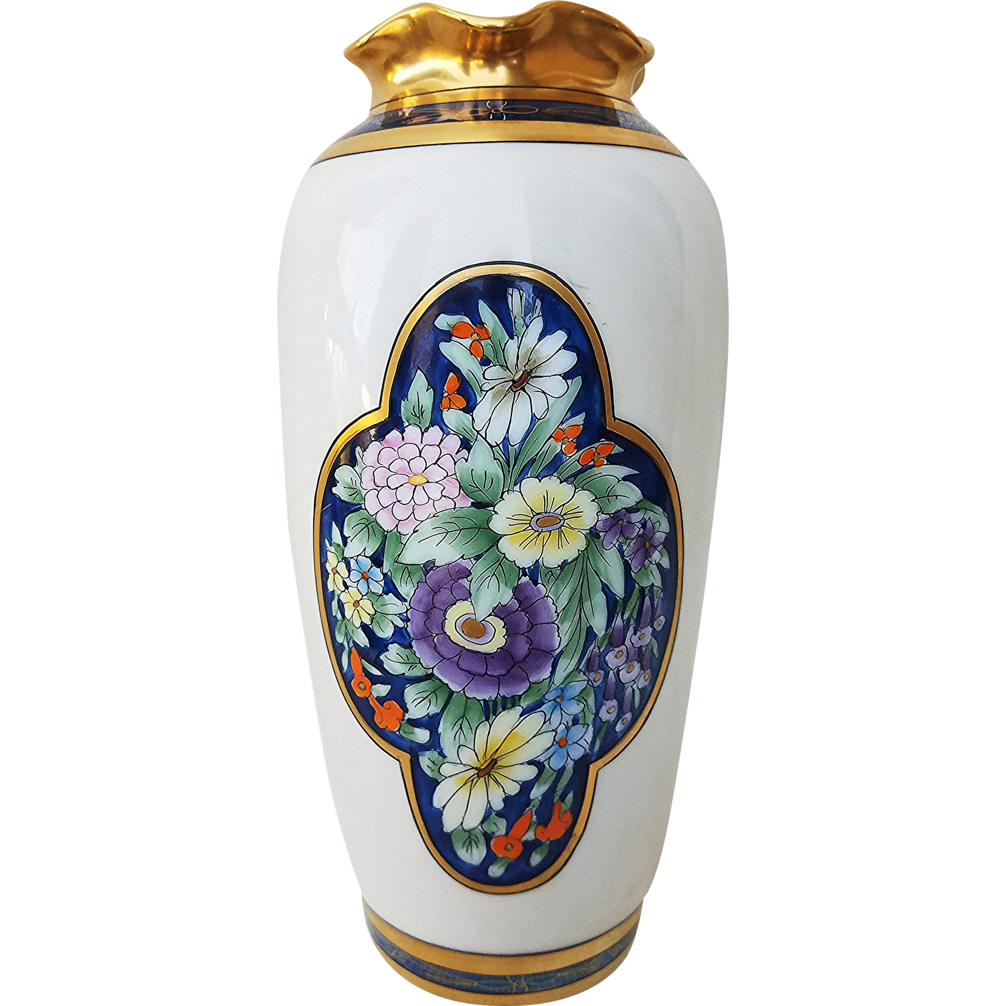 "Gorgeous Pickard Studio of Chicago 1912 ""Old Fashion Flowers"" 9-1/8"" Floral Vase by Listed Artist, ""Emil Tolpin"""