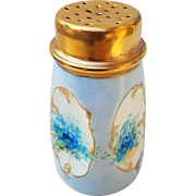 "Gorgeous Bavaria 1900's Hand Painted ""Forget Me Not"" Floral Sugar Shaker"