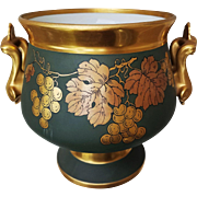 "Fabulous Vintage Limoges & France Studio of Chicago 1906 Hand Painted ""Gold Grapes"" Large Pedestal Jardiniere by ""Robert France"""