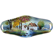 "Gorgeous RS Prussia 1900's ""Mill Scene"" 12-1/2"" Scenic Tray by the Artist, ""Rein"""
