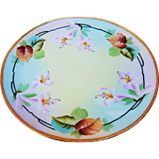 """Exquisite Thomas Sevres Bavaria & Pitkin & Brooks Studio of Chicago 1900's Hand Painted """"Pink Easter Lily"""" 8-5/8"""" Floral Plate"""