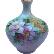 "Beautiful O.E. & G. Royal Austria 1900's Hand Painted ""Apple Blossoms"" Bud Vase"