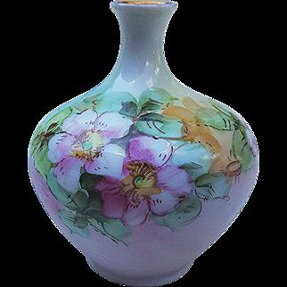 "Beautiful O.E. & G. Royal Austria 1900's Hand Painted ""Apple Blossoms"" Bud Vase"