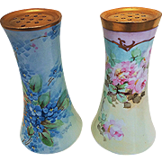 """Attractive Vintage O.E.& G Royal Austria 1900's Hand Painted """"Petite Pink Roses"""" Floral Sugar Shaker"""