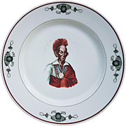 "Scarce 1915 Blackhawk Hotel China ""Portrait of Blackhawk"" 10-1/8"" Dinner Plate made by Syracuse China"