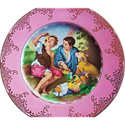 "Fabulous RS Prussia [ES] 1900's ""Melon Eater"" 10-1/2"" Scenic Plate"