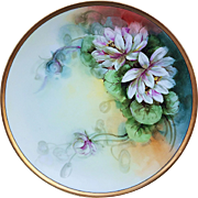 """Beautiful Thomas Sevres Bavaria 1900's Hand Painted """"White Peony"""" 10-3/4"""" Floral Plate"""