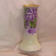 "Beautiful Vintage Royal Austria 1900's Hand Painted""Violets"" Sugar Shaker Signed ""S. Meissner"""
