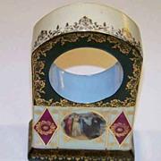 RS Prussia Pristine 1900 Portrait Clock Casing Marked