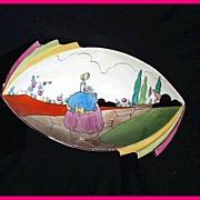 Clarice Cliff Bizarre Applique Idyll Daffodil Bowl 1932