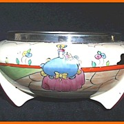 Clarice Cliff Bizarre Deco Applique Idyll Bowl 1932