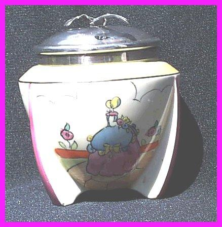 Clarice Cliff Bizarre Deco Applique Idyll Sugar Basin1932