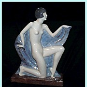 Deco Etling Genevieve Granger & Marcel Guillard Nude Lady Figurine