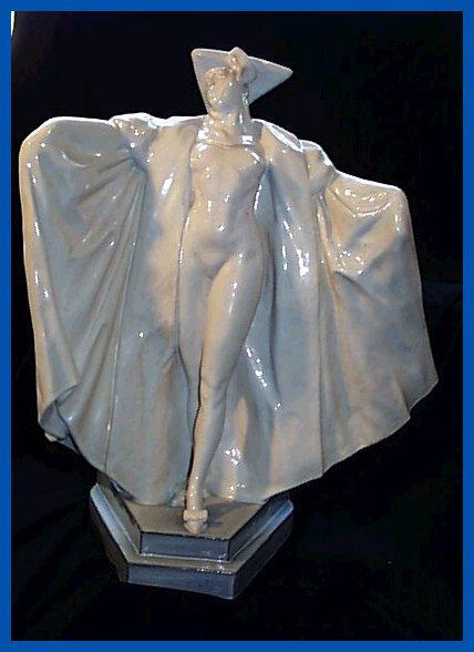 Deco Etling M Guiraud-Riviere Venetian Nude Lady Figurine