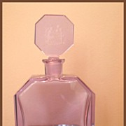 Czech Hoffman Lavender Lady and Bubbles Decanter