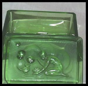 Czech Hoffman Nude Bubbles Green Perfume Box