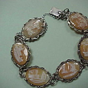 """Souvenir"" Cameo Bracelet - Italian/Portuguese - set in 800 German Silver"