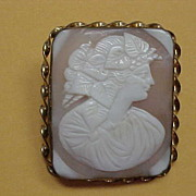 Victorian Era Cameo - Shell - Bacchanate - Follower of Bacchus, God of Wine
