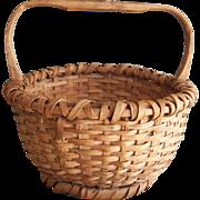Old Round Oak Gathering Basket