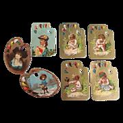 Victorian Artist Palette Die Cut Trade Cards
