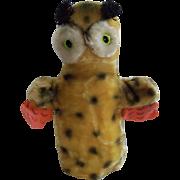 Vintage  Hand Glove Mohair Owl Puppet Japan