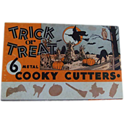 Vintage Halloween Trick or Treat Cooky Cookie Cutters