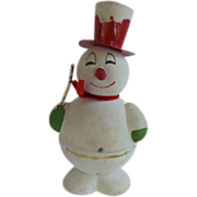 Vintage Christmas Snowman Candy Container Germany