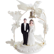 1949 Bride and Groom Wedding Cake Ornament Topper Original Box