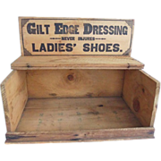 Antique Primitive  Whittemore's Ladies Shoe Dressing Store Display Crate