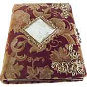 Antique Victorian Velvet Photo Album