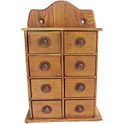Antique  Spice Box Cabinet Apothecary AAFA