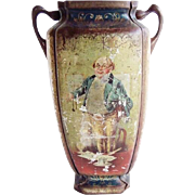 Antique Rare Charles Dickens Tin Lithographed Two Handled Urn