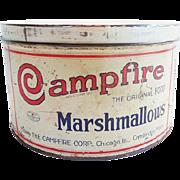 Vintage Campfire Marshmallow Advertising Tin