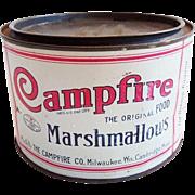 Small Vintage Campfire Marshmallow Tin Vintage Advertising