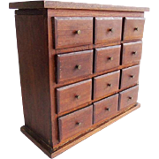Antique 12 Drawer Apothecary Cabinet