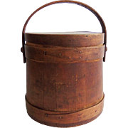 Antique Primitive Firkin Sugar Bucket