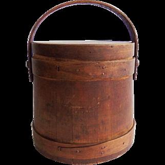 Antique Primitive Firkin Sugar Bucket