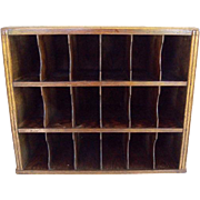 Antique Hotel Key Mail Sorter Cubby Box Cabinet