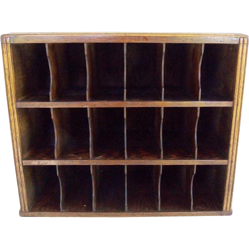 Antique Hotel Key Mail Sorter Cubby Box Cabinet - Antique Hotel Key Mail Sorter Cubby Box Cabinet From