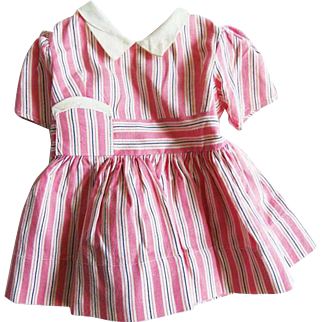 Vintage Pink Stripe Doll Dress