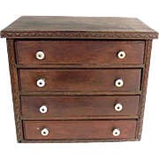 Antique 4 Drawer Spool Cabinet